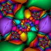 Vivid coloured fractal