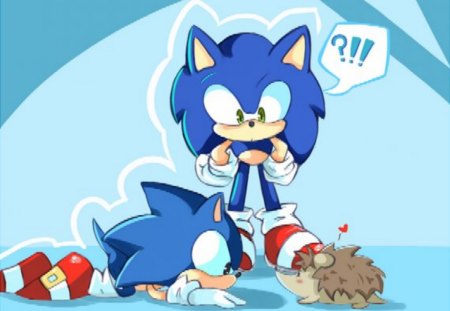 Three Sonic S Wait He S Not Blue Sonic Video Games
