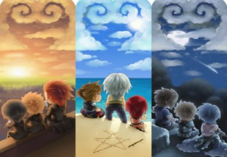 Lookin' up to the Dream Drop Distance - xion, video games, riku, sora, roxas, kingdom hearts, kairi