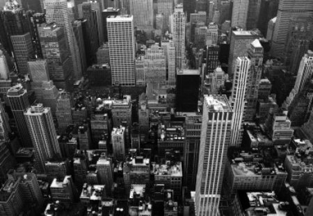 New York - black and white, city, buildings, ny