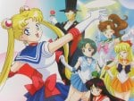 Sailor Moon and The Senshi and Tuxedo Mask