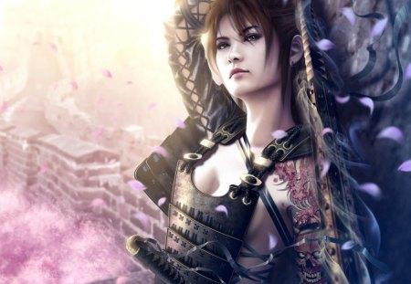 Warrior - fantasy, war, girl, fight, warrior