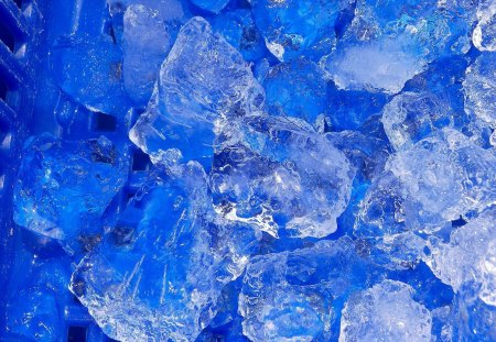 Blue ice for summer cooling - cool, winter, blue, ice, aqua, water, summer
