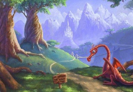 Dragon Notice - art, fantasy art, dragons, artwork