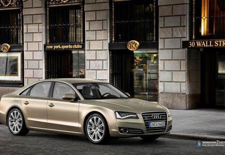 Audi - carro, audi, estacionado, dourado, bonito