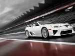 Sportcar on the racetrack - Lexus