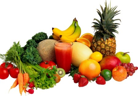 Fruits for a Healthy Life - health, life, fruits, juice