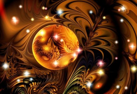 Fractal nocturnal - art, nocturnal, colorful, fractal, wallpaper, abstract, beautiful, multicolored, imagination