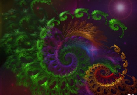 Fractal Dream World - worlds, fractals, magical, makebelieve, time, dreams, lens flares