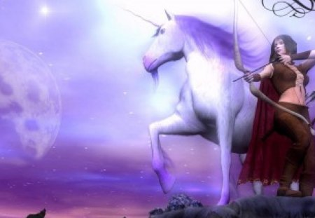 purple fantasy - fantasy, purple, sky, witch