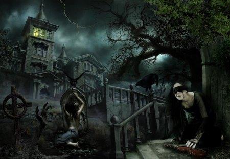Gothic - fantasy, gothic, girl, darck