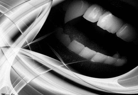 vampire fangs - art, abstract, vampire, fantasy, fangs