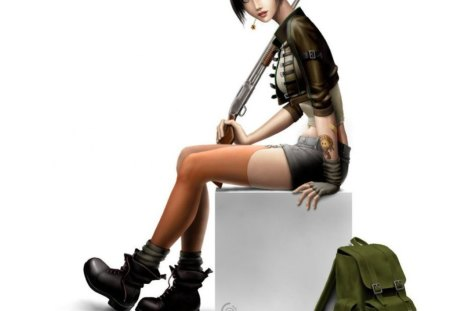 Little Devil - cg, style, cool, tattoo, stylish, shoes, bag, fashion, girl