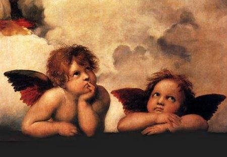 Anjos - abstrato, anjos, 3d, bonito