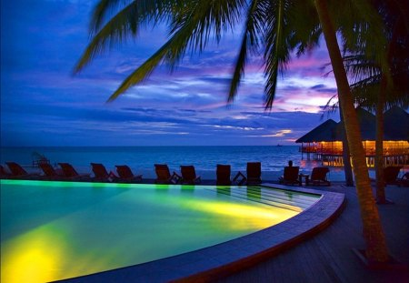 Tropical Night Beaches Nature Background Wallpapers On