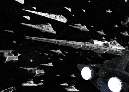 SW Imperial Fleet - stars, empire, sw, fleet, spaceships, space