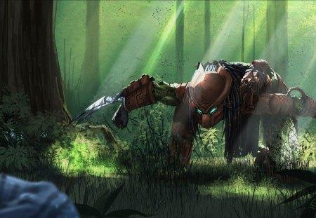 Predator - animal, predator, hunter, alien