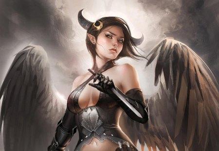 Horns fantasy abstract background wallpapers on desktop nexus image 1091176 - Hot demon women ...