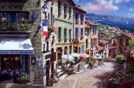 Street in france - beauty, paint, france, street