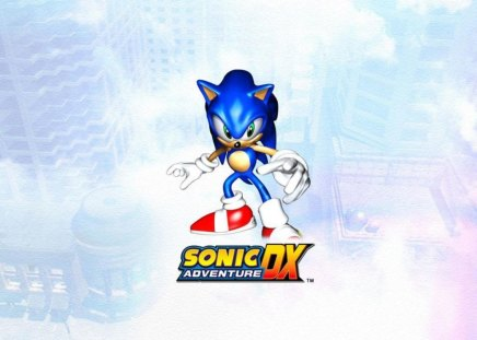 Sonic Adventure DX - sonic the hedgehog, video games, sonic adventure dx, sonic, sky, sation square