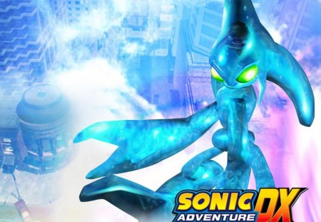 Sonic Adventure DX - water, station square, video games, sonic adventure dx, sonic, chaos, sky, brain