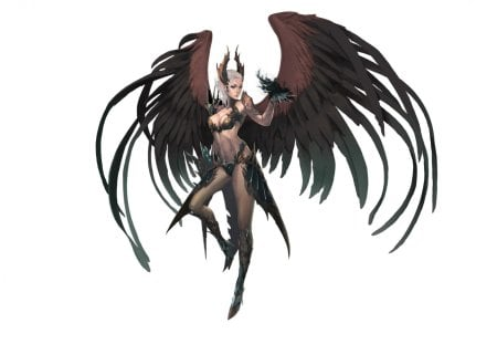 sorceress - wings, sorceress, armor, fantasy, magic, artwork