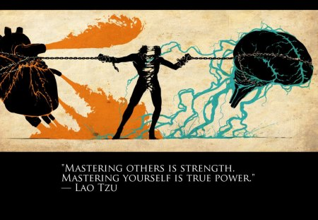 Master Yourself - abstract, mind, heart, master