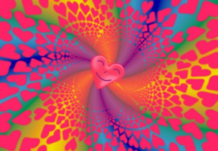 A Merry Heart Doeth Good Like a Medicine - Valentines Day, Proverbs, red, rainbow hues, orange, multicolored, party, swirls, happy, love, violet, Hearts, celebration, blue, yellow, purple, cheery, smiling, happi, green, Bible Verse, co11ie