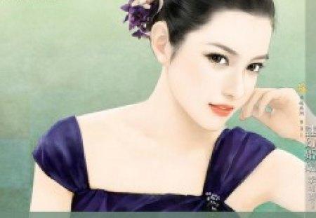 Elegant Girl - painting, beautiful, elegant, girl