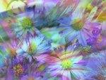 Digital Flowers Background