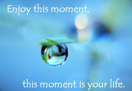 This Moment ..... - this moment, drop, quote, water, life
