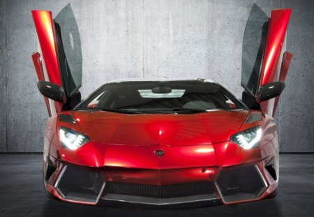 Mansory Aventador - lambo, tuned, red, custom