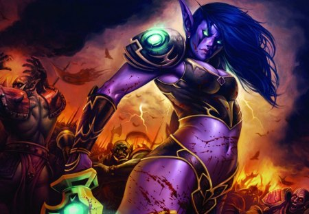 World Of Warcraft Lady - game, world of warcraft, wow, lady