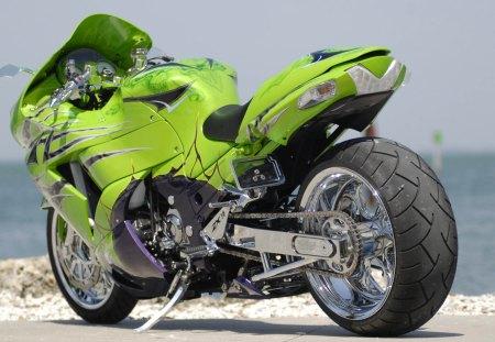 Zx14r - superbike, green, zx14r, kawasaki