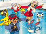 Pokemon Ice Skateing
