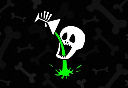 Calavera de Halloween - logo, calavera, halloween, digital art