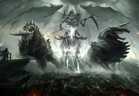 Demon rider - cg, cavaleiro, rider, 06, duelo, batalha, anime, demon, guerreiro, 29, anine, titans, 2012, picture