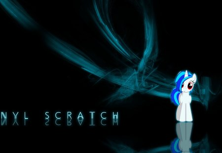 Vinyl scratch - cool, pony, nice, dark, awesome, abstract, black, vinyl