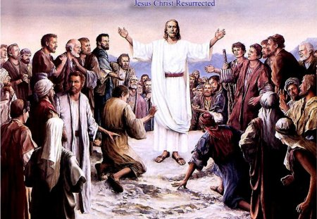 Jesus Christ resurrected - easter, jesus, christ, risen, god