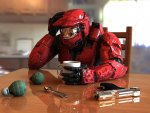 Master Chief Drinking Coffee
