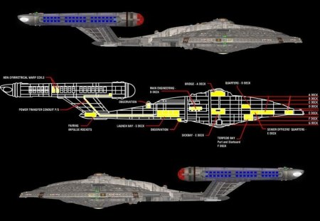 Star Trek - Starship USS Enterprise - Layout - star trek, uss enterprise, starship