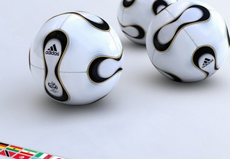 Adidas Football - three, adidas, football, black and white, 3d