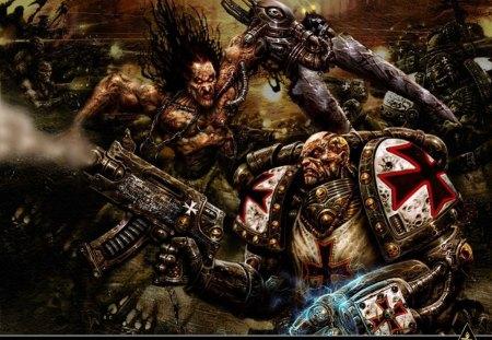 chaos warriors - marine, space, warhammer, game, 40k