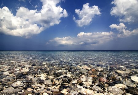 Chios Island Greece - blue, clouds, sky, chios, island, nature, beach, greece