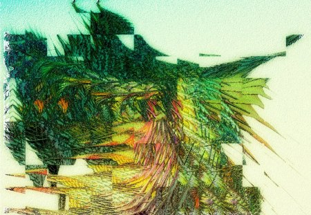 Collage One FRACTAL - color, fractals, fantasy, geometrics, textures, abstraction, abstract, fractal
