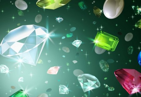 Stones - ruby, diamond, crystal, stones