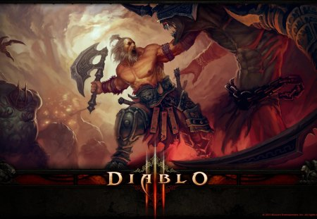 Diablo 3 Barbarian - video games, barbarian, diablo, 3