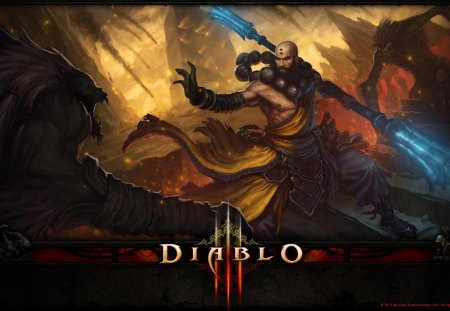 Diablo 3 monk - video games, monk, diablo, 3