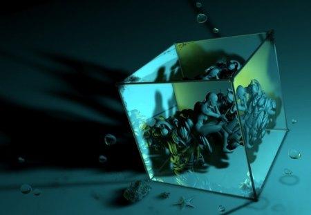 Cube - geomatry, cube, fantasy, 3d