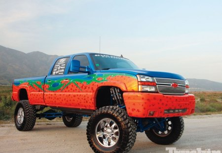 06 Chevy Silverado 2500HD - colorful, lift, gm, bolwtie